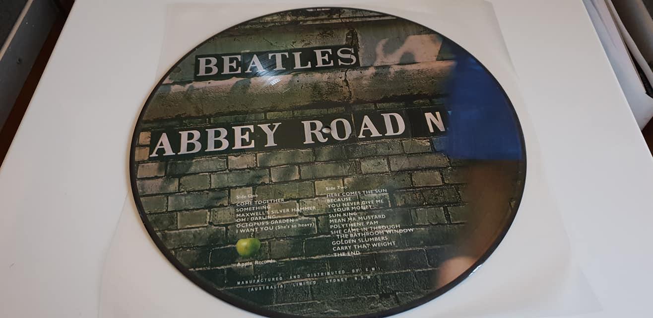Beatles Abbey Road Picture Disc Lp Record Vinyl Rock